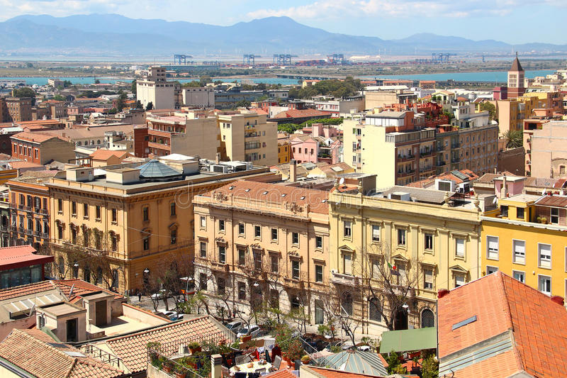 Cagliari, Sardinia, Italy. Cityscape of Cagliari, Sardinia, Italy royalty free stock image