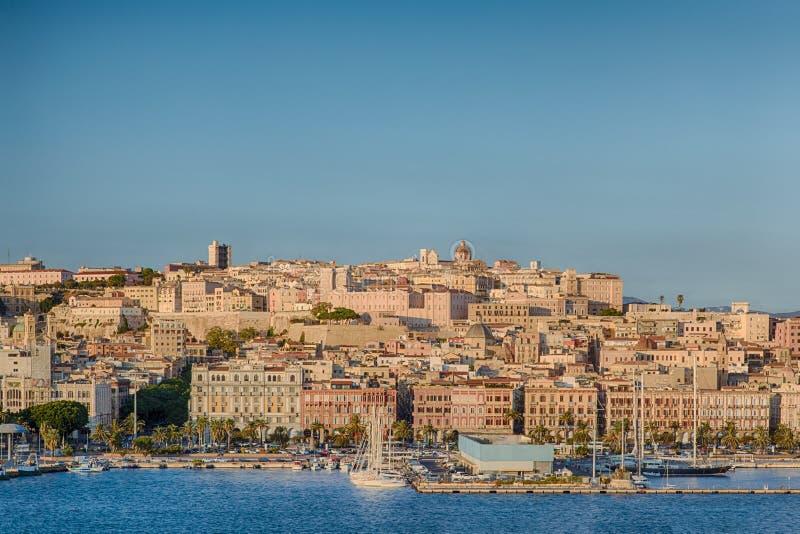 Cagliari, Sardinia, Włochy stary grodzki pejzaż miejski fotografia stock
