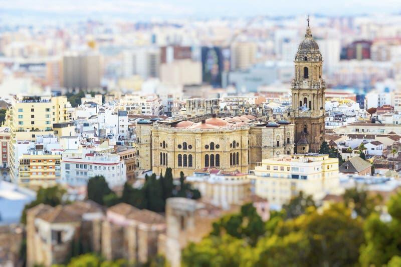 Cahedral van Malaga in Spanje royalty-vrije stock foto