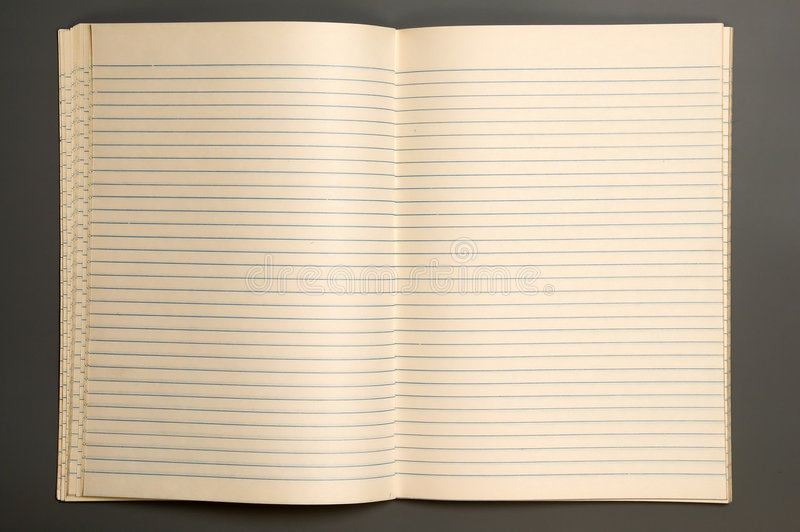Cahier photographie stock