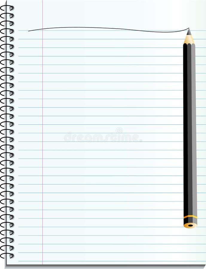 Cahier illustration de vecteur