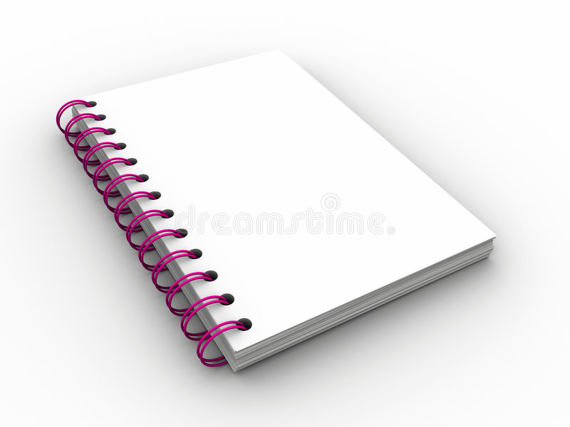 Cahier illustration stock