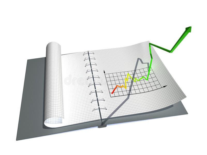 Cahier avec le graphique illustration de vecteur
