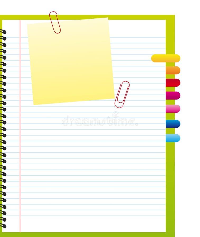 Cahier blanc illustration libre de droits