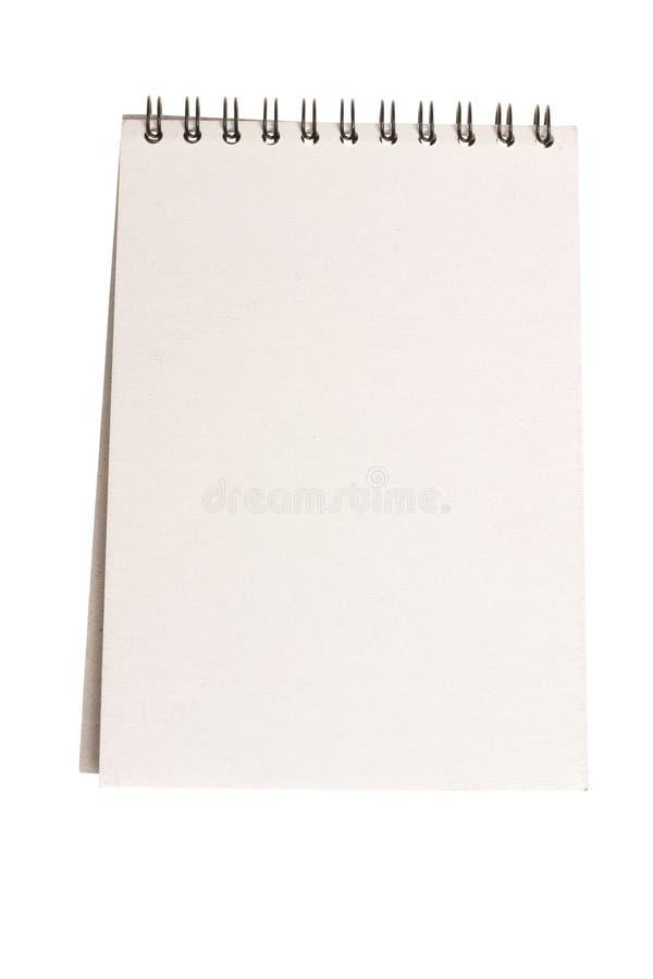 Cahier blanc photos libres de droits