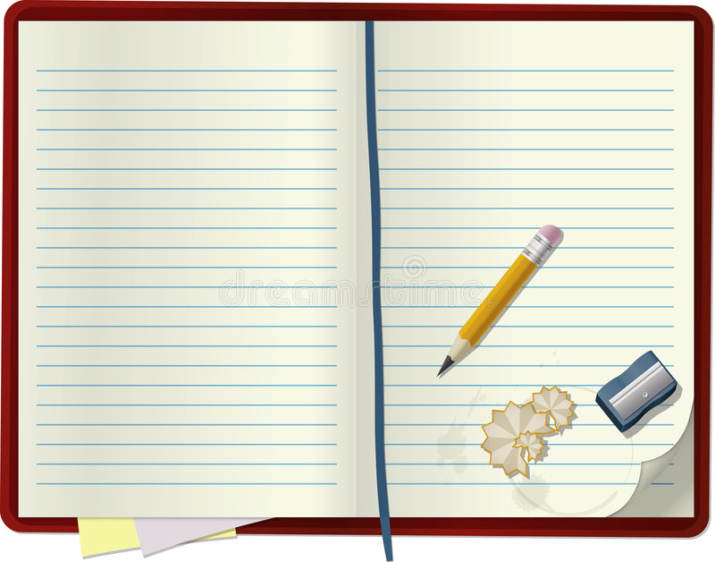 cahier blanc illustration stock