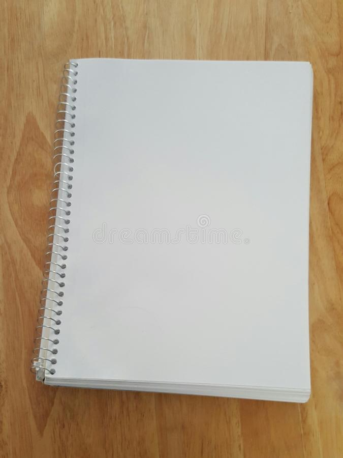 Cahier blanc images stock