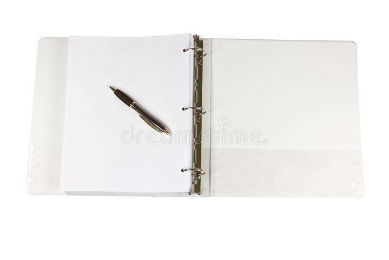 Cahier de boucle trois photographie stock