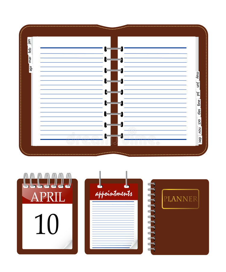 Download Cahier de calendrier illustration de vecteur. Illustration du réaliste - 8670111