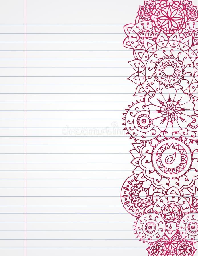 Cahier de henné illustration libre de droits