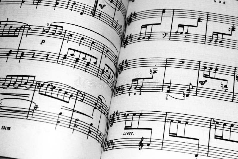 Cahier de musique images libres de droits