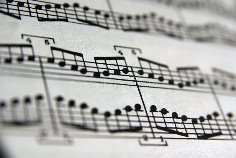 Cahier de musique photographie stock libre de droits