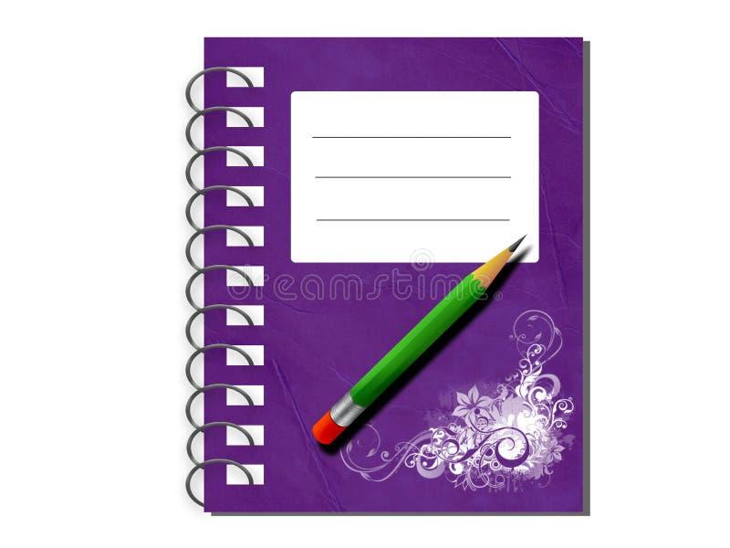 Cahier et crayon illustration stock