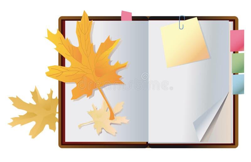 Cahier exposé d'automne illustration stock