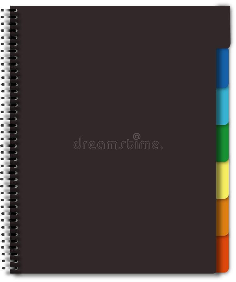 Cahier noir illustration libre de droits