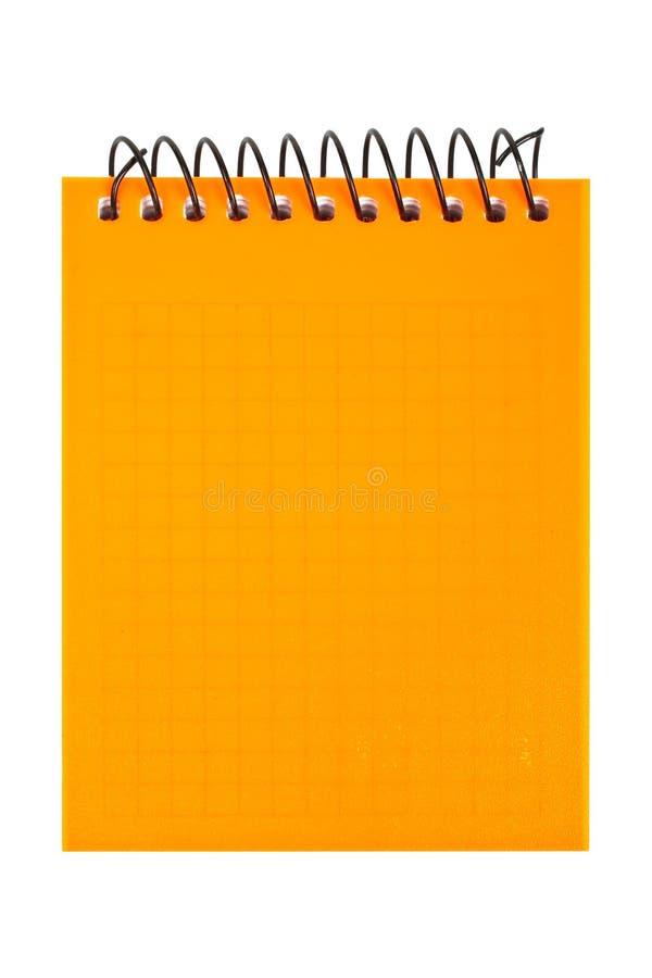 Cahier orange photo libre de droits