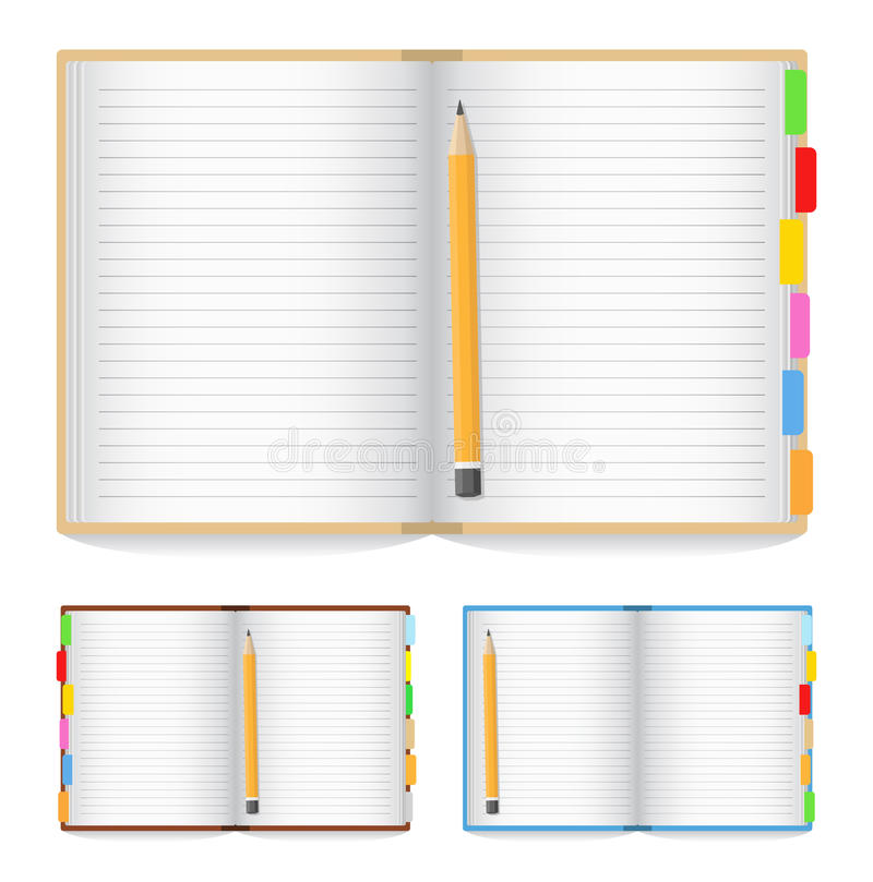 Cahier ouvert illustration stock