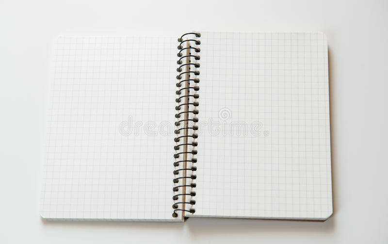 cahier ouvert photo stock