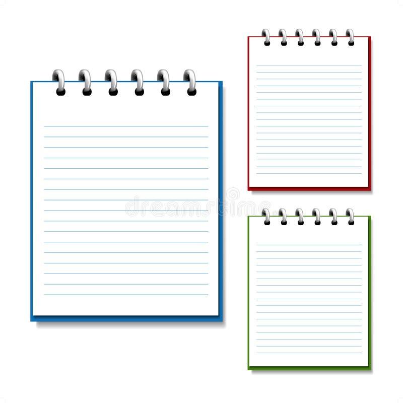 cahier ouvert de blanc de vecteur illustration de vecteur