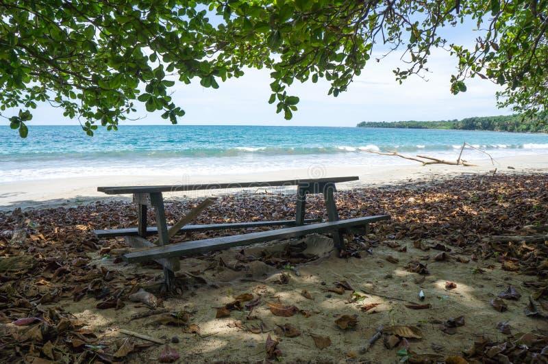 Cahuita plaża, Costa Rica zdjęcie royalty free