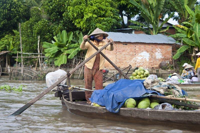 Cai Rang Floating Market photos stock