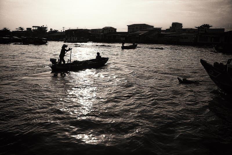Cai Rang Floating Market foto de stock