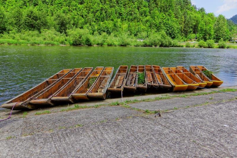 Caiaque em Dunajec foto de stock