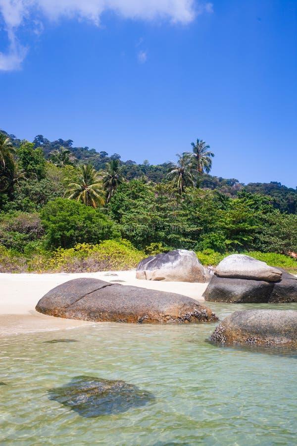 caiaque numa ilha tropical isolada - fundo de férias exótico - Koh Lipe, Tailândia fotos de stock