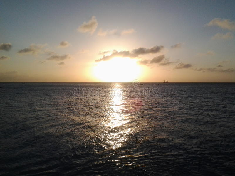 Caida del sol стоковая фотография rf
