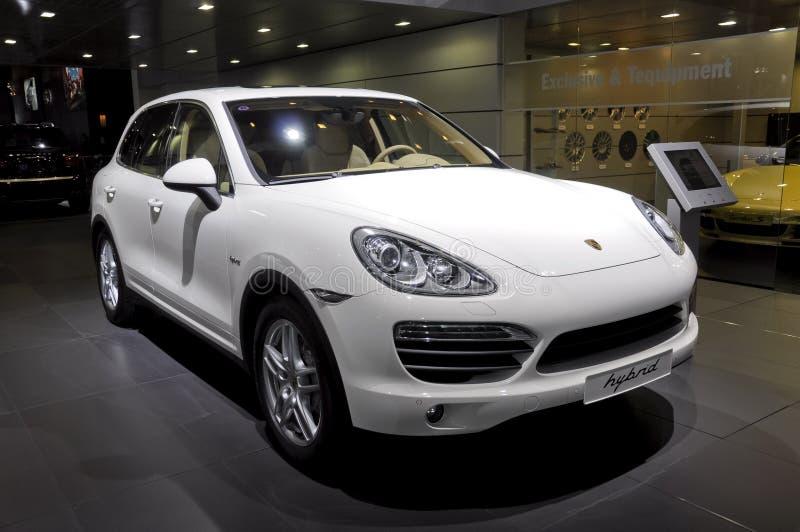 Caienna-s-ibrido della Porsche fotografie stock libere da diritti