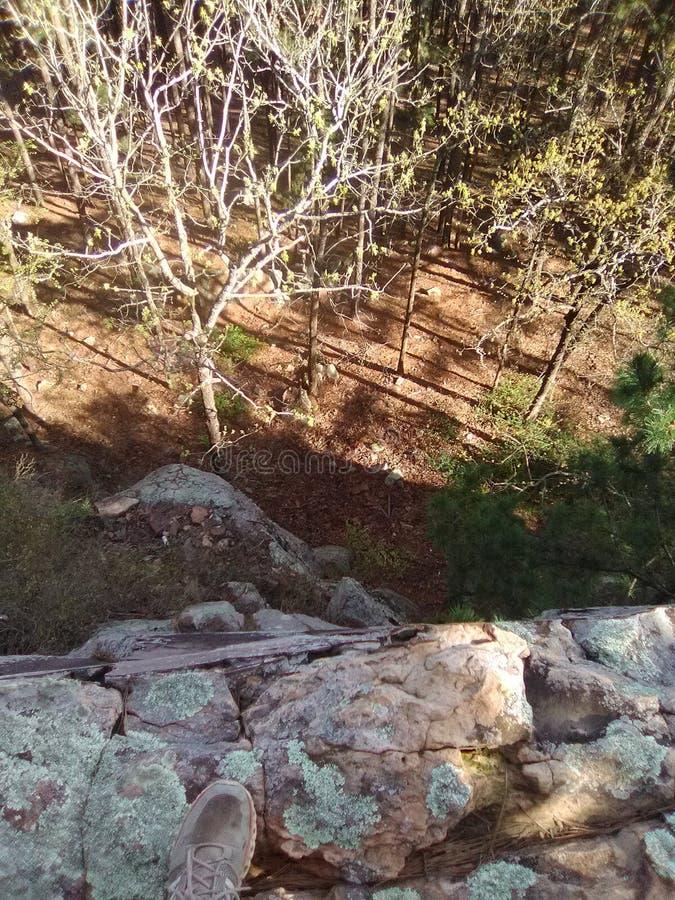 Caiga apagado el lado de la montaña en Oklahoma imagenes de archivo