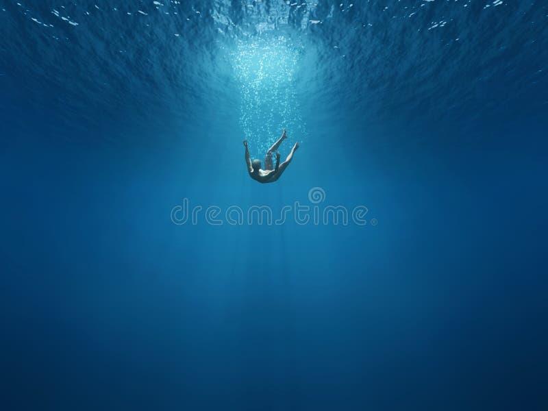 Caiga en las profundidades libre illustration