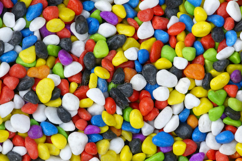 Cailloux colorés images stock