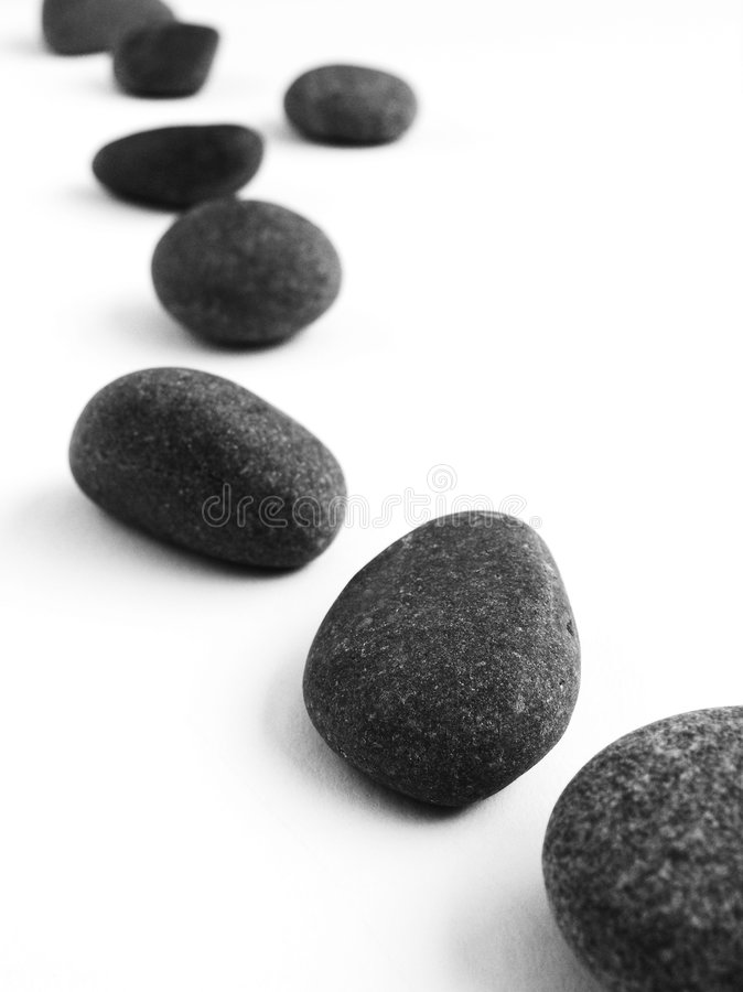 Cailloux de pierres de progression photos libres de droits