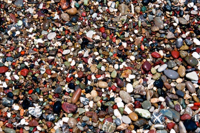 Cailloux de plage photo stock