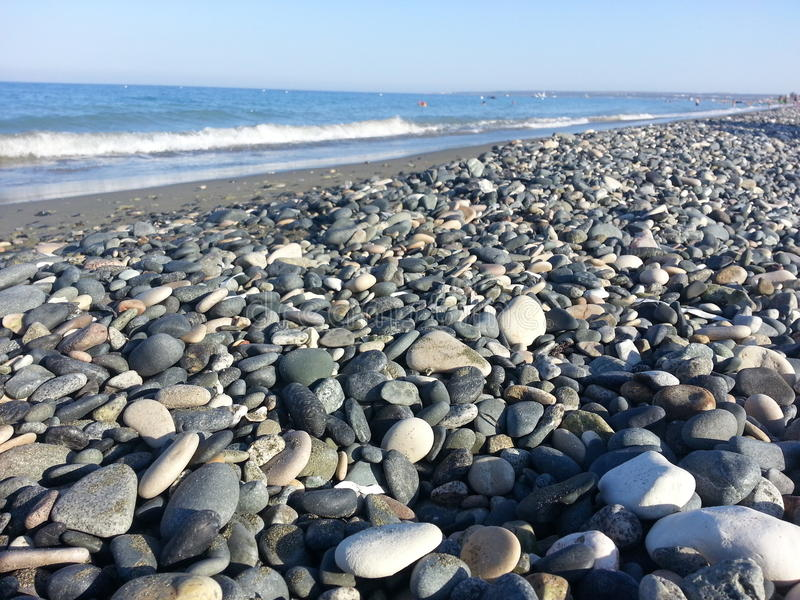 Cailloux en plage photos libres de droits