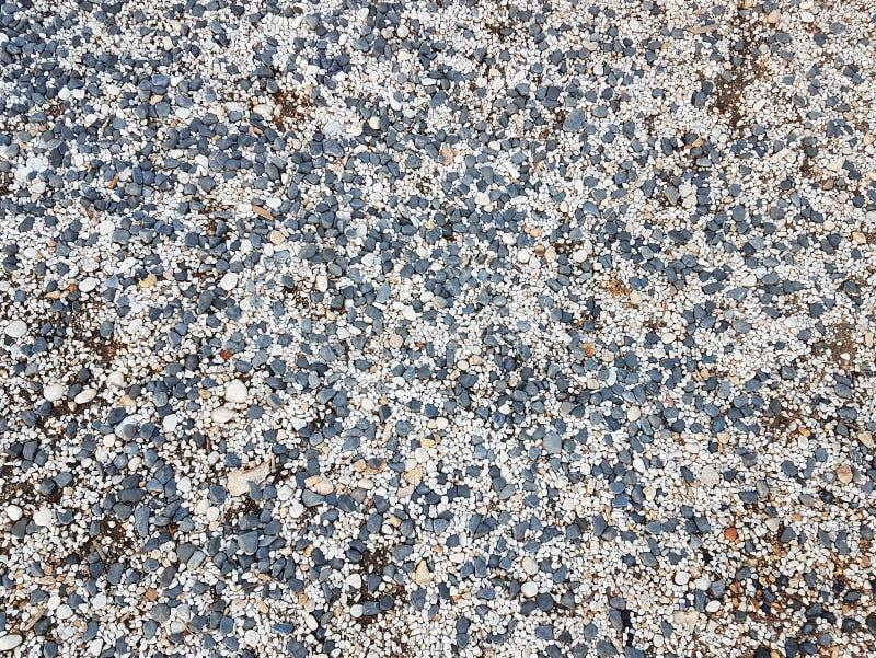 Cailloux fins d'une nuance grise Au sol de plage Matériel naturel pour la conception, la décoration et la construction Granit pon images libres de droits