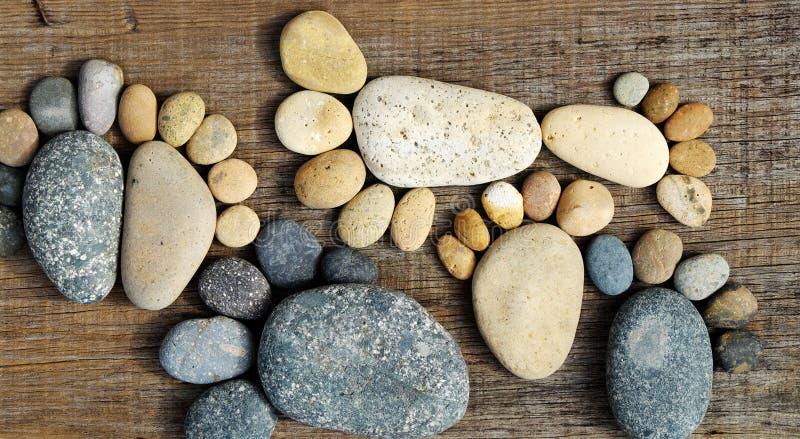 Cailloux mignons abstraits, empreinte de pas de rocher photos stock