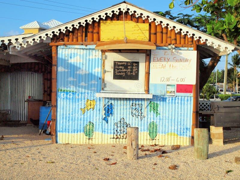 Caimão grande do café de Cayman Islands fotografia de stock royalty free
