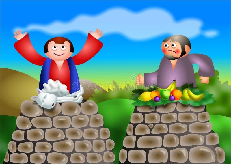 Cain y Abel stock de ilustración