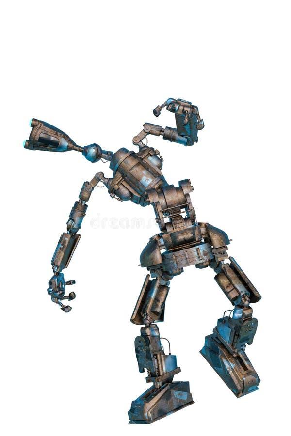 Caindo robô de trabalho ilustração do vetor