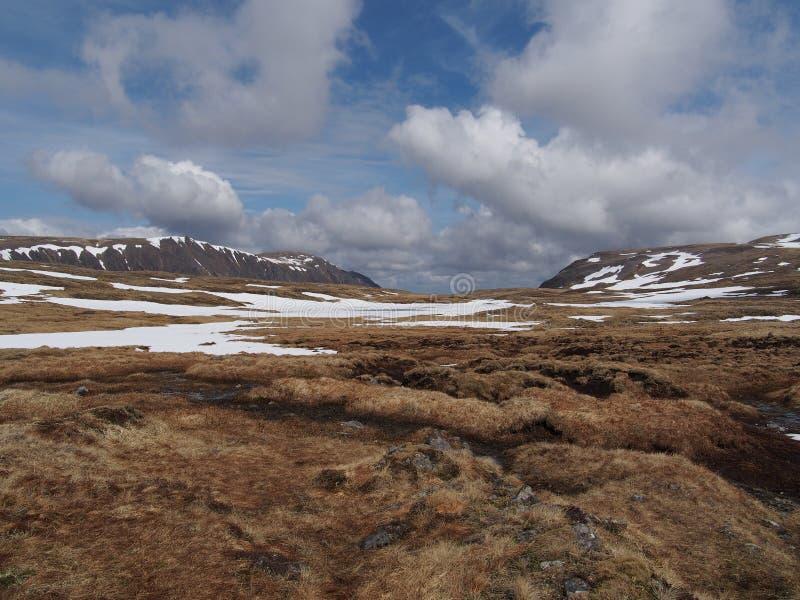 Cainrgorms Plateau, Południe Braeriach, Szkocja W Wiośnie Zdjęcia Stock