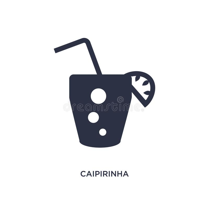 Caipirinha drink glass of brazil icon on white background. Simple element illustration from culture concept. Caipirinha drink glass of brazil icon. Simple royalty free illustration