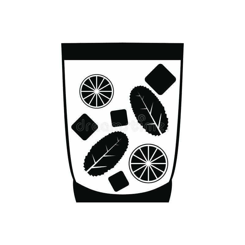 Caipirinha koktajlu napoju ikona, prosty styl ilustracji