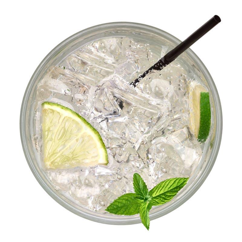 Caipirinha, Mojito koktajl od wierzchołka, ajerówki lub sodowanego napoju z wapnem, zdjęcie stock