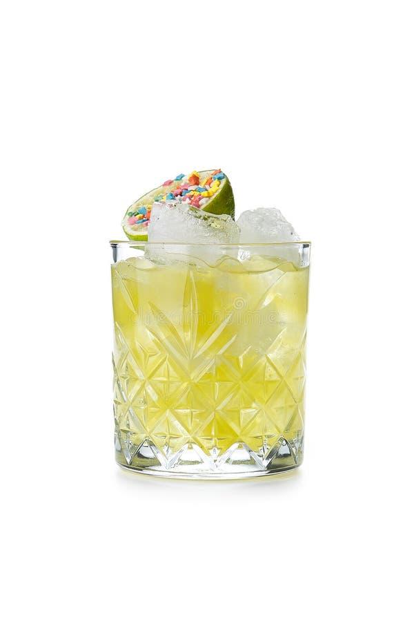 Caipirinha o Honey Grass Alcohol Cocktail immagine stock