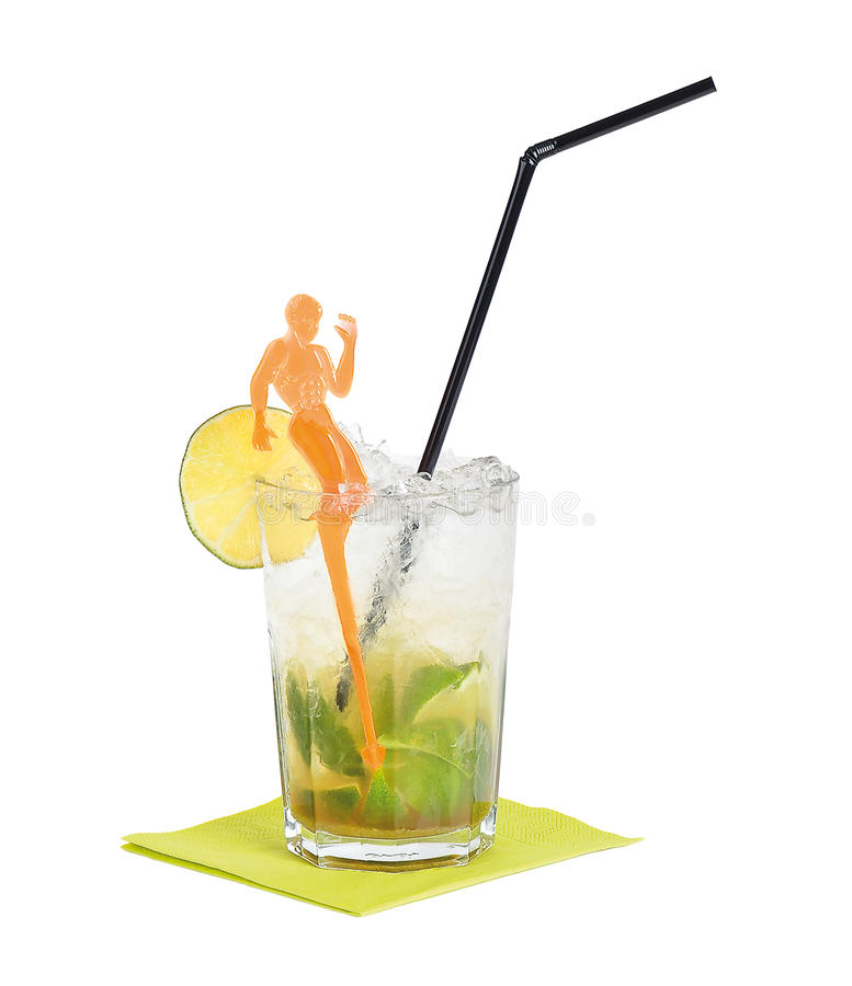 Caipirinhacocktail stock afbeeldingen