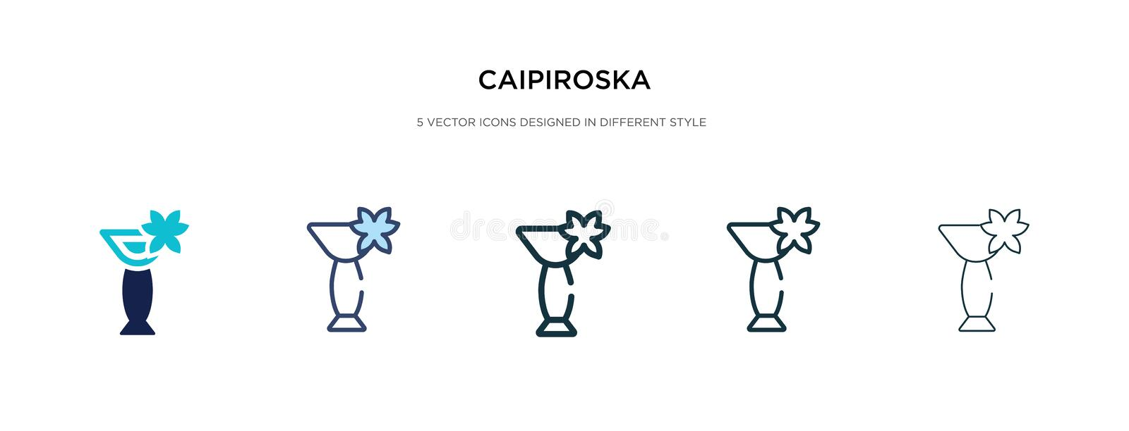 Caipiroska icon in different style vector illustration. two colored and black caipiroska vector icons designed in filled, outline. Line and stroke style can be stock illustration
