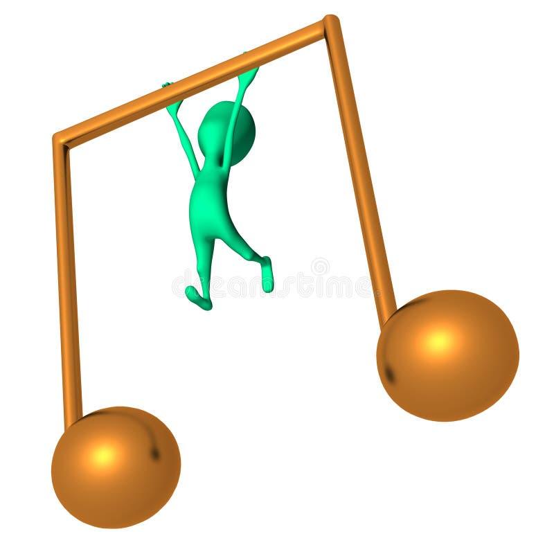Download Cair Do Fantoche 3d No ícone Amarelo Grande Da Nota Ilustração Stock - Ilustração de sumário, caráter: 26501610
