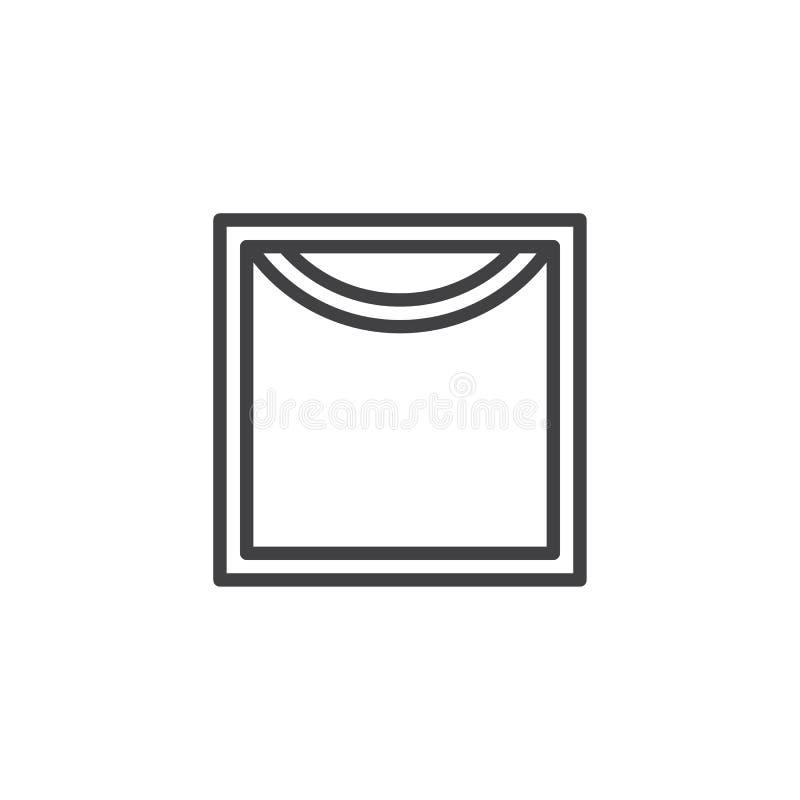 Cair para secar a linha ícone do sinal da lavagem automática ilustração do vetor